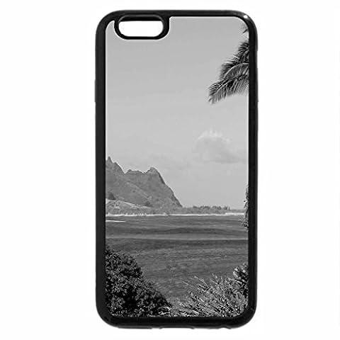 iPhone 6S Plus Case, iPhone 6 Plus Case (Black & White) - Princeville Ocean View Golf Course overlooking beach and cliffs Kauai Hawaii