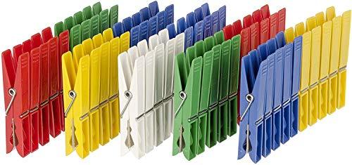 WENKO 3707505100 Colorado Wäscheklammern, 50-teilig, Polypropylen, 1 x 7 x 1.5 cm, mehrfarbig