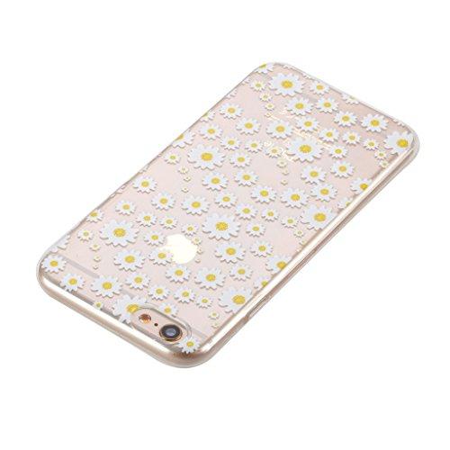 Per iPhone 6 / iPhone 6S Cover , YIGA Moda bianco margherita Cristallo Trasparente Cassa Silicone Morbido TPU Case Caso Custodia Protettiva Shell per Apple iPhone 6 / iPhone 6S 4.7 HX57