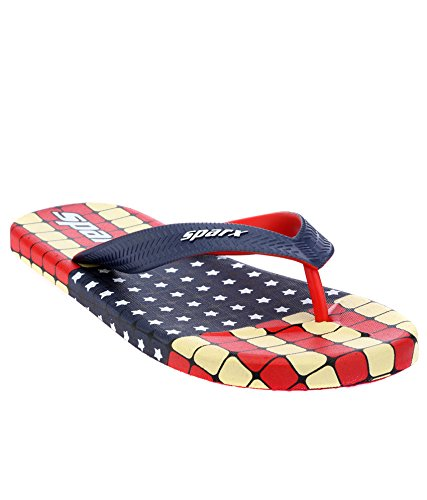 Sparx Men's SFG2041 Series Blue Red Synthetic Running Slippers 8UK  available at amazon for Rs.379