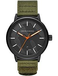 6a732e32c65f Armani Exchange Reloj Analógico para Hombre de Cuarzo con Correa en Nailon  AX1468