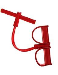 Gazechimp Pie de Pedal de Ejercicios Resistencia Cuerda de Tiro Yoga Aptitud de Abdominales - Rojo