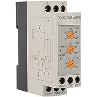Relé de monitoreo de voltaje de CC 12V / 24V / 36V / 48V Relé de protección contra sobrevoltaje y bajo voltaje Carril de guía 35MM 13-17V 10-14V(DC24V)
