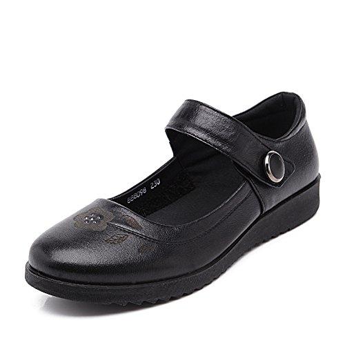 Maman et chaussures de fond mou/Grand moyen et souliers pour dames âgées vieux/Travail chaussures chaussures plates femmes A
