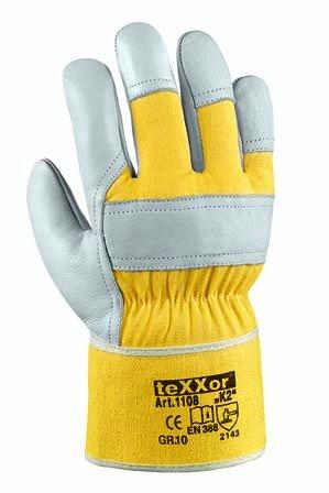 "36 Paar - Rindvollleder-Handschuhe, ""K2"" - teXXor® - 1108 - Größe 10"