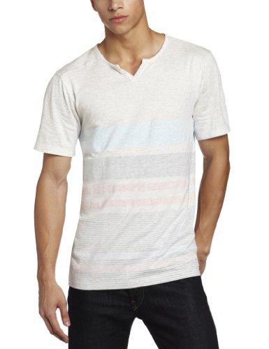 Volcom - - Männer Ferrell V-Henley T-Shirt Blue Drift