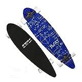 Skateboards Planche à roulettes Balayage Rue Voyage Cadeau Adultes Enfants Débutant Général Scooter Long À Quatre Roues Long Board Dancing Board 101 * 26 * 10.8 Bleu