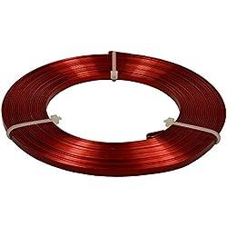 Corderie Italiane 006025702hilo aluminio Plato, Rojo