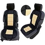 akhan csc202Siège Housse de siège beige/noir Siège de haute qualité pour corriger et facile à installer