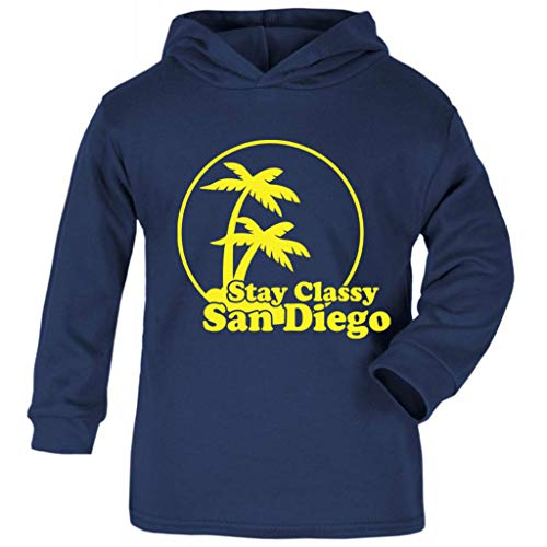 Cloud City 7 Stay Classy San Diego Anchorman Baby and Kids Hooded Sweatshirt (Diego Baby Kostüm)