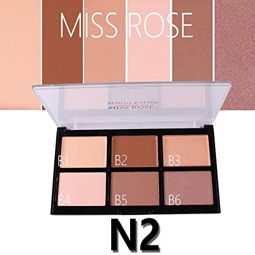 BaZhaHei MISS ROSE 6 Color Crema Camuflaje Correctores
