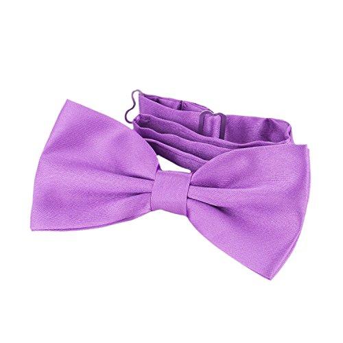 DonDon Nœud papillon avec crochet - déjà lié et réglable violet I