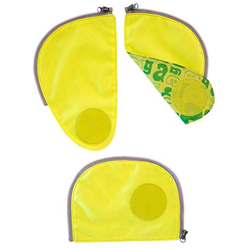 ERGOBAG Pack Sicherheitsset Fluoreszierende Zip-Flächen, 23cm, Gelb