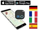 Phantiax Schlüsselfinder Check Schwarz | Keyfinder mit Bluetooth App, GPS Ortung und Bewegungsmelder Zum Finden von Schlüsseln Oder Handy/Smartphone