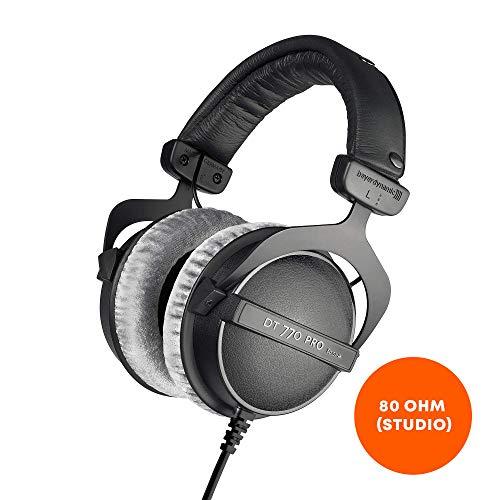 beyerdynamic DT 770 PRO 80 Ohm Over-Ear-Studiokopfhörer in schwarz. Geschlossene Bauweise, kabelgebunden für professionelles Recording und Monitoring Audio-over-ear-kopfhörer