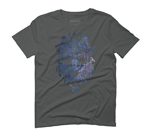 Spirit Wolf Men's Graphic T-Shirt - Design By Humans Anthracite