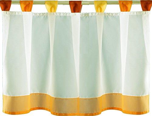 Bistrogardine Sky Line mit Schlaufen- Farbe wählbar - ca. 150 x 45 cm - Gelb 10