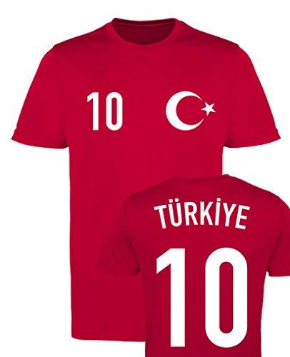 WM EM Trikot - Türkiye 10 - Herren T-Shirt - Rot/Weiss Gr. M