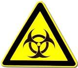 Hinweisschild: Piktogramm - Warnung vor Biogefährdung - BIOHAZARD - Schild Warnschild Warnzeichen Arbeitssicherheit Türschild Tür Kunststoff Kunststoffschild Geschenk Geburtstag