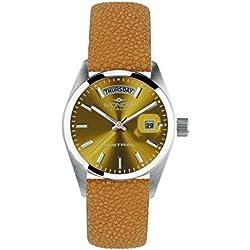 Mondia Italia Mistral mi742–4CP, reloj de pulsera de mujer, correa de piel auténtica razza.