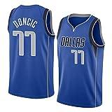 Camiseta de Baloncesto de Verano NBA Dallas Mavericks 77 Doncic, Uniforme de Baloncesto para Hombre Top Bordados