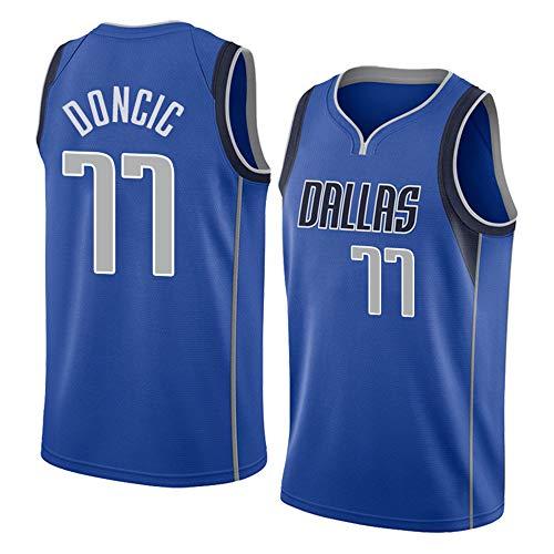 Herren Basketball Shirts NBA Dallas Mavericks 77 Doncic Jersey Summer Classic Stickerei Ärmellose Weste