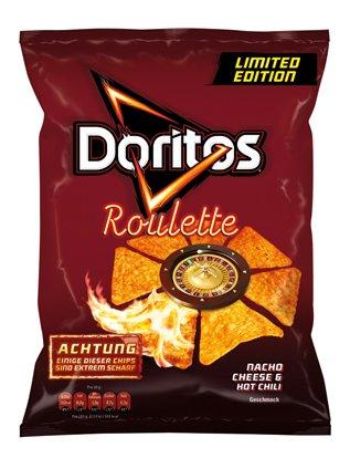 Preisvergleich Produktbild Doritos Roulette Nacho Cheese & Hot Chili Geschmack LIMITED EDITION (4 x 120g
