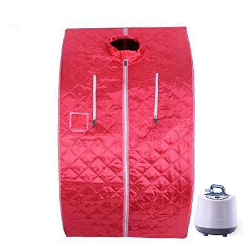 YXIAOL Equipo De Sauna Sauna Portátil Cabina De Vapor Cuerpo Completo Fumigación Cuerpo Interior Terapia para Adelgazar Individual,Red