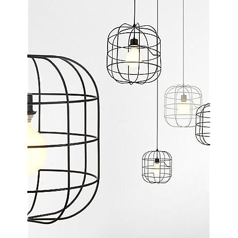 Mini ZSQ Artística lámpara colgante jaula de perico/1/moderno de luz Simplicidad/Acabado Negro/Blanco/metal/acero carbono Droplight , 220-240 v-blanco