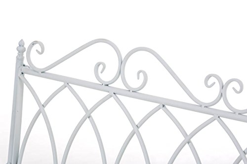 CLP Gartenbank DIVAN im Landhausstil, aus lackiertem Eisen, 106 x 51 cm – aus bis zu 6 Farben wählen Weiß - 5