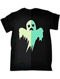 KIDS - 123t T-SHIRT Premium GLOW IN THE DARK GHOST (VARIOUS COLOURS) T SHIRT Ages 3-13