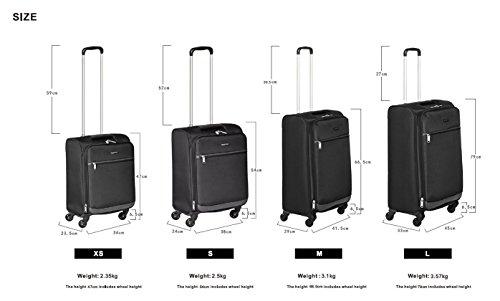 9e0f291ef AmazonBasics – Maleta blanda con ruedas giratorias, 53 cm, para equipaje de  mano, Negro. 54 ...