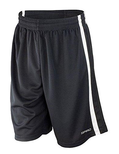 Spiro Herren-Basketball-Shorts, schnelltrocknend Medium schwarz / weiß