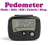 #2: Gadget Hero's Digital II LCD Pedometer Step Calories Counter. Walking Distance With Belt Clip