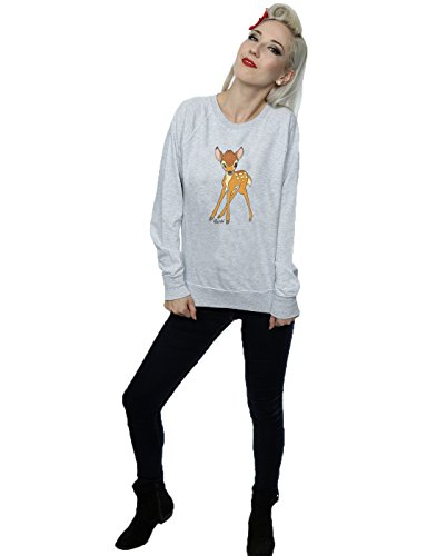 Disney Femme Classic Bambi Sweat-Shirt Heather Gris