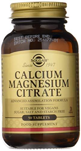 Solgar Calcium Magnesium Citrate 50 Comprimés