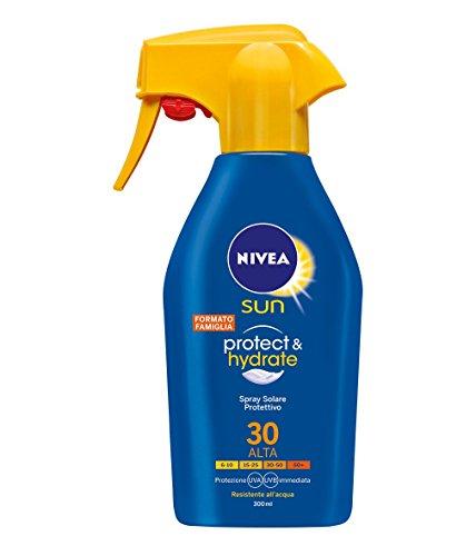 Nivea sun protect & hydrate spray latte solare fp 30, protezione alta, 300 ml