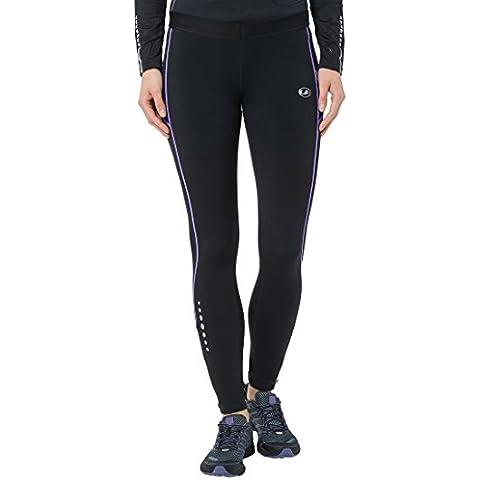 Ultrasport 10135 - Pantalones largos para mujer, color negro / morado, talla XL