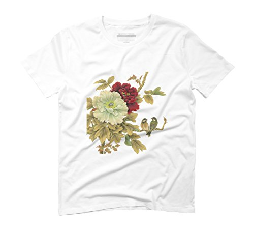 Two Lovebirds Men's Graphic T-Shirt - Design By Humans White