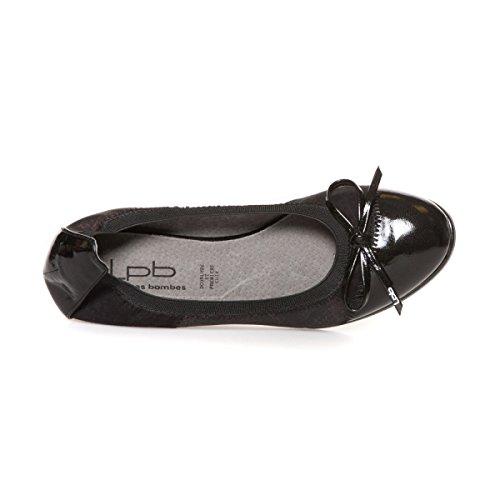 Zapatos De Lpb, Las Pequeñas Bombas, Bailarina Donna Nero