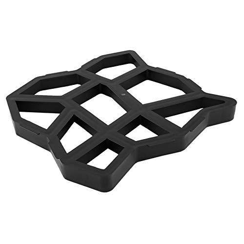 Preisvergleich Produktbild Pflasterform,  unregelmäßiger Pfad Maker Mold Rasenpflaster DIY Muster dekorativer Garten,  für Beton Ziegelstein,  schwarz 44, 5 * 39, 5 * 4 cm