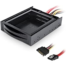 Dynamode hot-swap bahía de disco SATA de 2,5pulgadas Dual con cable de datos y