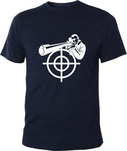 Mister Merchandise Cooles Fun T-Shirt Sniper Scharfschütze Navy