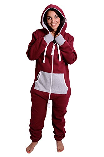 The Classic Unisex Onesie in Burgundy and Fire Ash Grey - L - 2