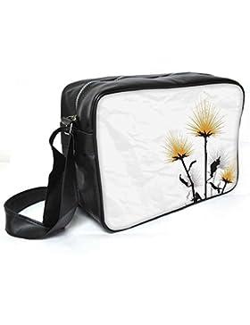 Snoogg einfach Text weiß Leder Unisex Messenger Bag für College Schule täglichen Gebrauch Tasche Material PU