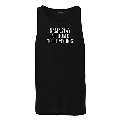 Namast'ay At Home With My Dog, Unisex Jersey Vest -