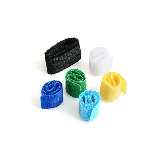 System-S Kabelbinder mit Klettverschluss Kabel-Klettband (Klett, Klettbänder, Kabelbefestigung), 6er-Set