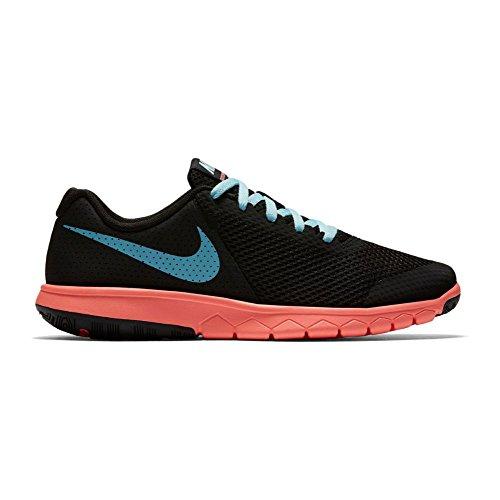Nike Flex Experience 5 Gs, chaussures de course fille Black/Still Blue-Lava Glow