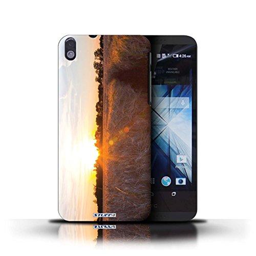 Kobalt® Imprimé Etui / Coque pour HTC Desire 816 / bateaux conception / Série Coucher du Soleil Récolte