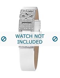 Dolce & Gabbana correa de reloj DW0506 Cuero Blanco(Sólo reloj correa - RELOJ NO INCLUIDO!)